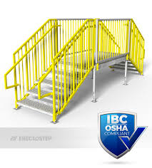 Ibc Stair Design by Portable Stairs Double Stairs Erectastep