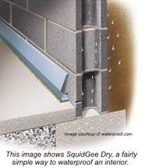 water leaks in basement basalt rock surrounds foundation