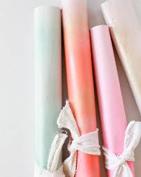ombre wrapping paper diy spray painted gift wrap