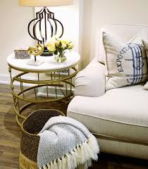 family room decor end table side table styling