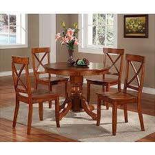 pedestal kitchen table and chairs home styles pedestal dining table cottage oak walmart com