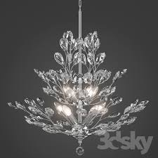 Upside Down Crystal Chandelier 3d Models Ceiling Light Upside Down Silver Leaf Chandelier
