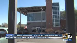 carl hayden high school yearbooks threat discovered at carl hayden high school