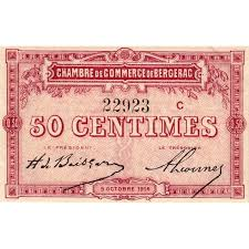 chambre de commerce de bergerac billet des chambres de commerce bergerac 50 centimes