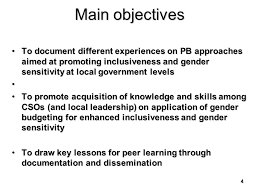 1 communication for inclusion and gender sensitivity of
