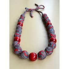 handmade beaded necklace images Rozalia quot fabric wrapped beaded necklace handmade napkins world jpg