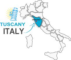 Tuscany Italy Map Vintage Bike Tuscany Biking