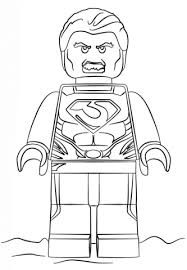 lego man of steel coloring page free printable coloring pages