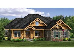 ranch house plans with wrap around porch craftsman ranch finished walkout basement hwbdo home plans