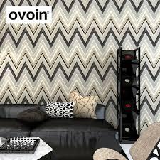 aliexpress com buy gray chevron wallpaper grey geometric design