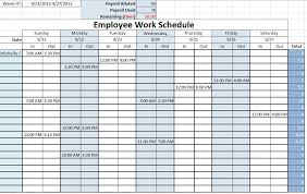 Employee Schedule Template Excel Weekly Schedule Template Excel