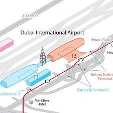 Phoenix Airport Terminal Map by Dxb Terminal 3 Map Dxb T3 Map United Arab Emirates