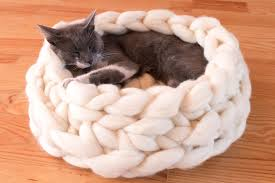 Cat Bed Pattern Chunky Cat Bed Cat House Giant Yarn Xxxl Cat