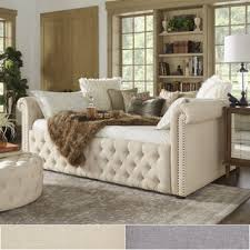 Tufted Daybed With Trundle Knightsbridge Queen Size Tufted Scroll Arm Chesterfield Daybed And
