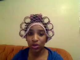 body wrap hairstyle natural black hair roller set silk wrap youtube