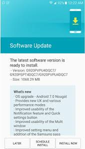how to upgrade android version 7 0 nougat for samsung galaxy s6 and s6 edge goes live at sprint