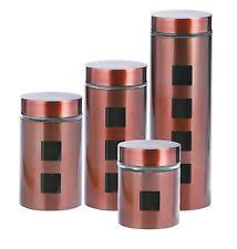 kitchen canisters set of 4 copper kitchen canister sets ebay