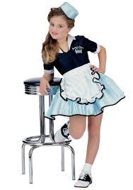 Kid Halloween Costumes Girls Car Hop Sweetie Costume 1950s Costumes For Kids