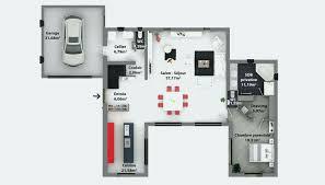 maison avec 4 chambres plan maison plain pied 4 chambres avec suite parentale frais plan de