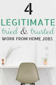 4 tried u0026 trusted work at home jobs