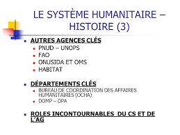 bureau de la coordination des affaires humanitaires gouvernances des grandes organisations humanitaires du système