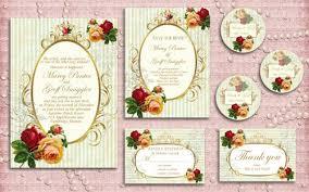 Shabby Chic Wedding Invitations by Printable Wedding Invitation Set Diy Shabby Chic Wedding