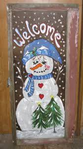 Christmas Window Frame Decoration by Best 25 Painted Window Frames Ideas On Pinterest Window Art