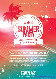 50 best summer party flyer print templates 2016 frip in