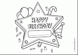 outstanding happy birthday cake coloring page with happy birthday