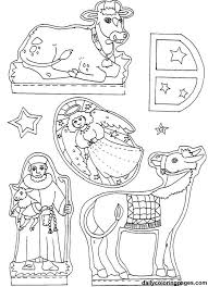 nativity diorama christmas coloring pages 07 christmas ideas