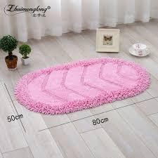 tapis cuisine antiderapant lavable moderne ovale coton chenille tapis de sol tapis pour salon coin