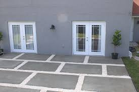 Large Pavers For Patio A Stylish Patio With Large Poured Concrete Pavers