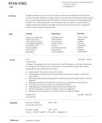 Chef Resume Templates by Chef Resume Exle Sushi Chef Resume Resume Template Cook Resume