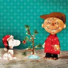 snoopy tree product works brown with snoopy 034 ole christmas tree 034