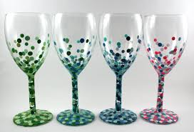 winter wine glass painting at kaukauna library green bay