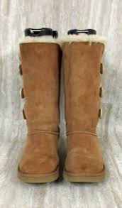 womens ugg bailey boots chestnut womens ugg bailey triplet button boots 1873 size 7 chestnut ebay