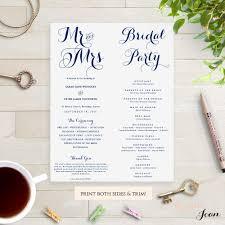 byron printable wedding order of service template connie u0026 joan