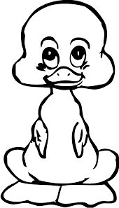 duck clipart coloring page pencil and in color duck clipart