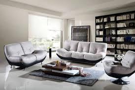 modern livingroom chairs black two tone leather 3pc modern living room set modern