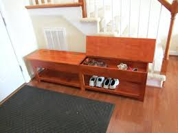 Entryway Shoe Rack 2 In 1 Wooden Shoe Cabinet Ottoman Storage Entryway Benches