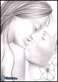 drawn kiss cartoon pencil and in color drawn kiss cartoon
