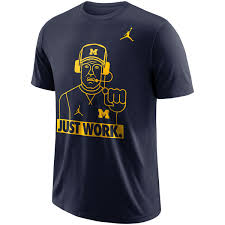 michigan wolverines fan gear men s jordan brand michigan wolverines navy just work local