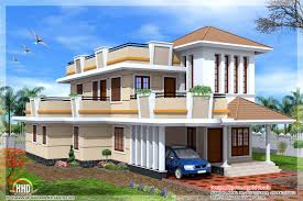 Two Storey Residential Floor Plan Bedroom Double Storey House Kerala Home Design Floor Plans Home