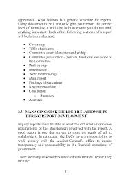 Example Of Government Resume by Napac Report Writing Handbook
