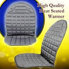 zone tech car heated seat cover cushion warmer 2 piece set 12v
