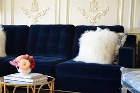 deep blue velvet sofa oscar prussian blue dark carpet and blue velvet sofa