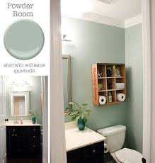 bathroom paints ideas powder room sherwin williams quietude pretty handy all