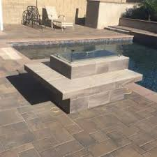 Rectangle Fire Pit - stacked stone rectangle fire pit w wind guard outdoor furniture