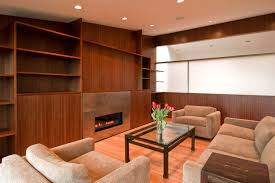 living room beautiful beige wood luxury design cool home theater