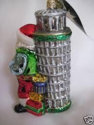 radko seasons leanings tower of pisa italy ornament new santa